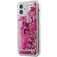 Karl Lagerfeld Liquid Glitter Charms pro Apple iPhone 12 Mini Pink