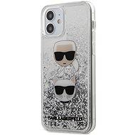 Karl Lagerfeld Liquid Glitter 2 Heads pro Apple iPhone 12 Mini Silver