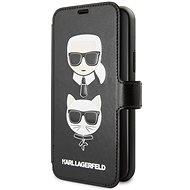 Karl Lagerfeld Cardslots Book pro iPhone 11 Black  - Pouzdro na mobilní telefon