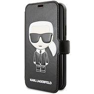 Karl Lagerfeld Ikonik Book pro iPhone 11 Black  - Pouzdro na mobilní telefon