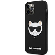 Karl Lagerfeld Choupette Head Silikonový Kryt pro Apple iPhone 12/12 Pro Light Black