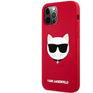 Karl Lagerfeld Choupette Head Silikonový Kryt pro Apple iPhone 12/12 Pro Light Red