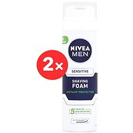 NIVEA Men Sensitive pěna na holení 2× 200 ml