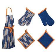 Kela Sada kuchyňského textilu ETHNO modrá 3 ks - Zástěra