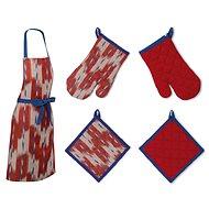 Kela Set of Kitchen Textiles ETHNO Red 3pcs