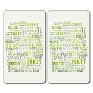 Kesper Multifunkční deska ze skla motiv: salad, 2 ks 52x30cm - Krájecí deska
