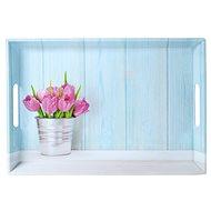 Kesper Servírovací tác motiv tulipány 50 x 35cm - Podnos