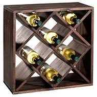 Regál na víno Kesper Stojan na víno, borovice tmavá 50x50x25cm