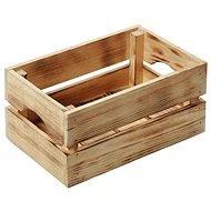 Kesper Dřevěná opálená bedýnka 30x20x15cm - Úložný box