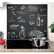 Kesper Multifunkční skleněná deska motiv ristorante 56x50cm - Krájecí deska