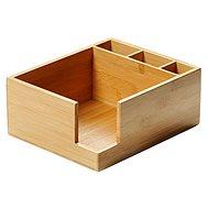 Kesper Box na ubrousky a příbory, bambus 21,5x18 cm - Organizér