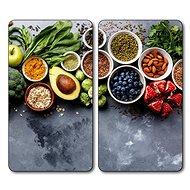 Kesper 2 ks, skleněná deska, motiv Zdravé vaření - Krájecí deska
