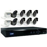 KGUARD hybridní 16kanálový DVR rekordér + 8x barevná venkovní kamera - Kamerový systém