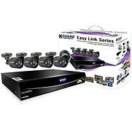 KGUARD hybridní 4kanálový DVR rekordér + 4x barevná venkovní kamera - Kamerový systém