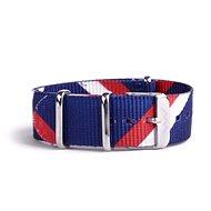 VUCH Nylonový pásek Silver Blue Red P890 - Řemínek