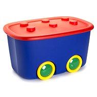KIS Funny box L červený/modrý 46l - Úložný box