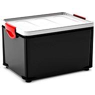 KIS Clipper Box L černý-šedé víko 33l - Úložný box