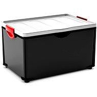 KIS Clipper Box XL černý-šedé víko 60l - Úložný box