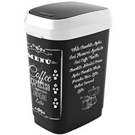KIS Koš na odpad Dual Swing Bin Style M, Coffee menu, 25l - Odpadkový koš