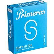 PRIMEROS Soft Glide kondomy se zvýšenou dávkou lubrikace, 3 ks - Kondomy