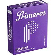 PRIMEROS Passion kondomy s vroubky a výčnělky, 3 ks - Kondomy