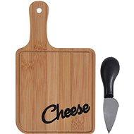 Koopman prkénko na sýr bambus sada 2díl.(prkénko 20x12x1cm, nůž 11cm)