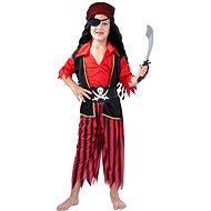 Kostým Pirát červený vel. M - Dětský kostým