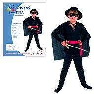 Šaty na karneval - Maskovaný bandita vel. M - Dětský kostým
