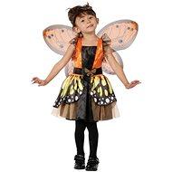 Šaty na karneval - Motýlí víla vel. XS - Dětský kostým