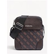 GUESS Men Manhattan Logo Small Mini Crossbody Bag Brown - Pánská brašna