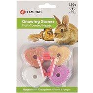 Flamingo Calcium Hearts 4 pcs - Treats for Rodents