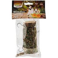 Nature Land Pochoutka Nibble válec s bylinkami 120 g - Doplněk stravy pro hlodavce