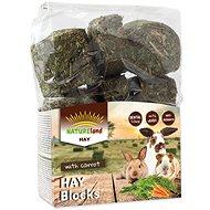 Nature Land Seno Hay bloky s mrkví 600 g - Krmivo pro hlodavce