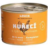 LOUIE kuřecí s rýží a taurinem 200 g - Konzerva pro kočky