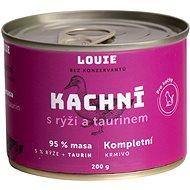 LOUIE kachní s rýží a taurinem 200 g - Konzerva pro kočky