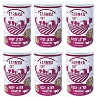 FARM CAT with liver 400 g, 6 pcs - Canned Food for Cats
