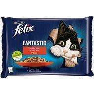 Felix Fantastic s hovězím a kuřetem v želé  4 x 85 g