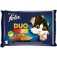 Felix Fantastic DUO kuře a ledvinky, hovězí a drůbeží, krůta a játra, jehněčí a telecí 4 x 85 g