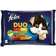 Felix Fantastic DUO jehněčí a kuře s rajčaty, vepřové a zvěřina s cuketou 4 x 85 g
