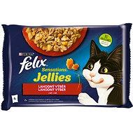Felix Sensations Jellies s hovězím a kuřetem v lahodném želé  4 x 85 g