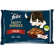 Felix Tasty Shreds s hovězím a kuřetem ve šťávě 4 x 80 g