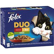 Felix Fantastic DUO hovězí a drůbeží, jehněčí a kuře, krůta a kachna, vepřové a zvěřina se zeleninou - Kapsička pro kočky