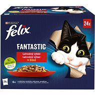 Felix Fantastic s kuřetem, hovězím, králíkem, jehněčím v želé 24 x 85 g - Kapsička pro kočky