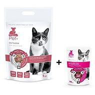 ThePet+ 3in1 Cat Outdoor 1kg + Indoor treat 80g zdarma - Granule pro kočky