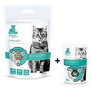 ThePet+ 3in1 Cat Sterilised 1kg + Sterilised treat 80g zdarma - Granule pro kočky