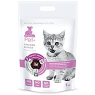 ThePet+ 3-in-1 Cat Kitten Chicken & Duck 1kg - Kibble for Kittens