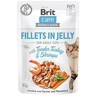 Kapsička pro kočky Brit Care Cat Fillets in Jelly with Tender Turkey & Shrimps 85 g