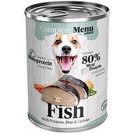 COMPLETE MENU pro psy Monoprotein - rybí se zeleninou 400 g - Konzerva pro psy