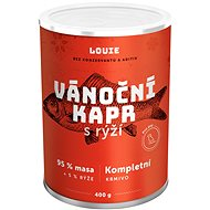 LOUIE Kompletní krmivo pro psy - vánoční kapr s rýží 400 g