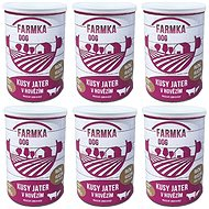 DOG FARM with liver 400 g, 6 pcs - Canned Dog Food